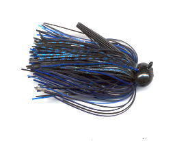 Black & Blue Skirted Football Jig