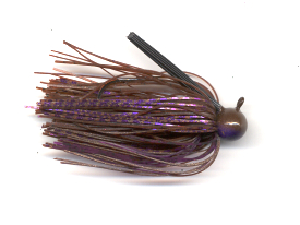 Cinnamon Purple Skirted Football Jig