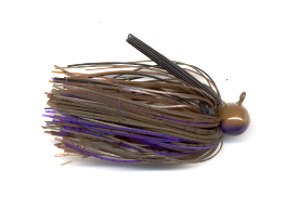 Purple Pond Bug Skirted Football Jig
