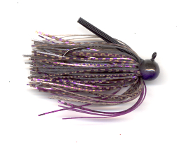 Smoke Purple Skirted Football Jig