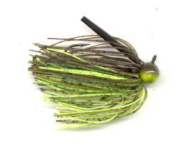Dirty Chartreuse Skirted Football Jig