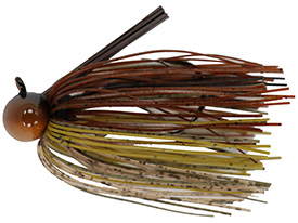 Brown Craw Tour Level Skirted Football Jig