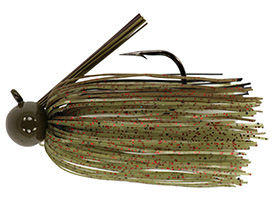 Watermelon Red Flake Tour Level Skirted Football Jig