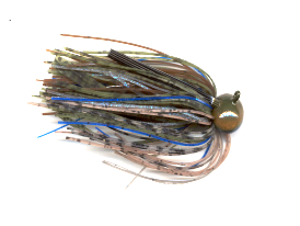 Blue Craw Skirted Football Jig