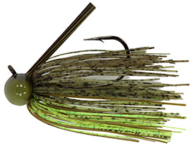 Dirty Chartreuse Tour Level Skirted Football Jig
